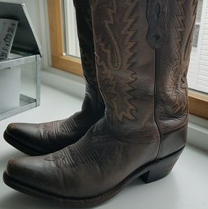 Old West genuine leather western boot